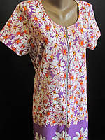 Женские хлопковые халаты с цветами., фото 1