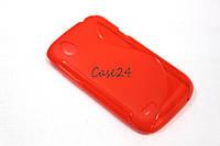 TPU чехол для HTC Desire V T328w червоний, фото 1