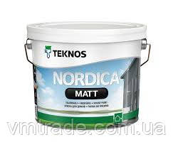 Краска для деревянных фасадов Текнос Нордика Мат, 2,7л