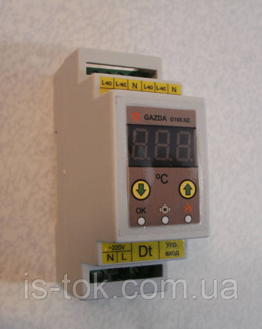 Паспорт на терморегуляторы GAZDA G105 KS/ KN/ KZ/ NZ(сокр.)