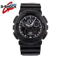 Casio G-Shock GA-100 ЧЕРНЫЙ /годинник касіо га 100, міцний, надійний, спортивний, точна копія