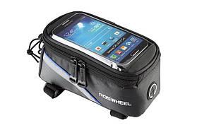 "Сумка Roswheel на раму, для телефона 5"", черно-синяя"