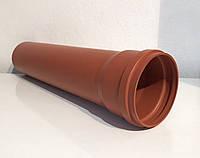 Труба 2 м ПВХ наружной канализации  110мм / 2,7 мм  с резиновым уплотнителем