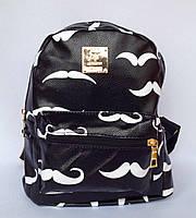 Рюкзак детский, подростковый для девочки с внешним и боковыми карманами черного цвета