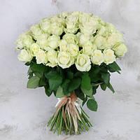 Букет из белых роз 101 шт. высота 50-60см.