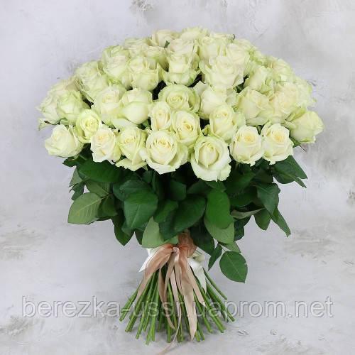 Букет из белых роз 101 шт. высота 50-60см. - Интернет магазин БЕРЕЗКА в Киеве