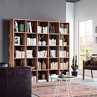 Полка напольная из натурального дерева для книг и декоров 705