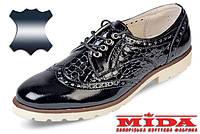 Стильные лакированные кожаные туфли MIDA 21456(292) 36
