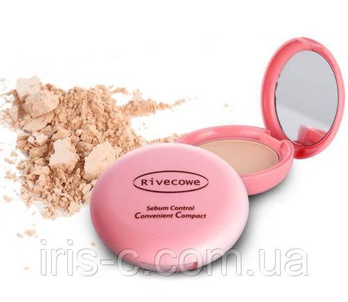 Пудра с контролем жирности кожи Rivecowe Sebum Control Convenient Compact Foundation 12г
