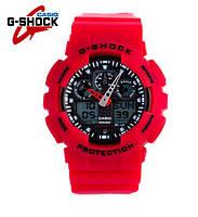 Часы Casio G-Shock GA-100 (КРАСНЫЕ) ударостойкие, спортивные, мужские часы, копия