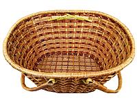 Плетенная корзинка с ручками овальная