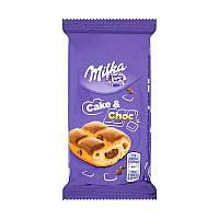 Кекс Milka Cake & Choc mini с молочным шоколадом внутри, 35 г