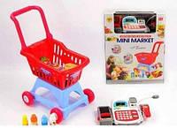 Детский игровой набор Мини маркет 2900F. Тележка.Продукты. Звук. Свет
