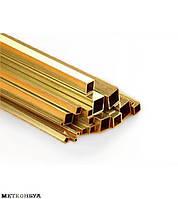 Латунная труба профильная Л63 30,5х7х1 мм