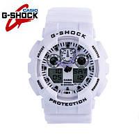 Часы Casio G-Shock GA-100 (WHITE / БЕЛЫЙ) ударостойкие, спортивные, мужские часы, копия