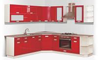 Кухонный гарнитур «Техно» Длина 4.2м, Цена без столешницы, под заказ другой размер.