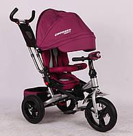 Трехколесный велосипед-коляска Azimut Crosser T-400 EVA, бордовый ***