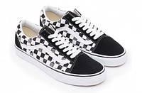 Кроссовки Supreme x Vans Old Skool, черно-белые, низкие