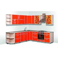 Кухонный гарнитур «Модерн Плюс» Длина 4.1м, Цена без столешницы, под заказ другой размер.
