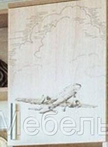 Створка пенала с рисунком Самолет Город SV Мебель