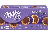 Печенье Milka Choco Minis с молочной начинкой и молочным шоколадом, 150 гр