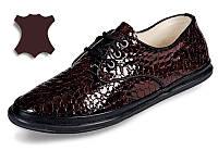 Кожаные туфли MIDA 21446(269) рептилия  38