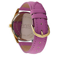 Часы наручные Минимализм золото фиолетовый