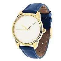 Часы наручные Минимализм золото синий