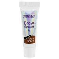 Хна для биотатуажа бровей Eva Bond Beauty Collection,4 гр, светло-коричневая