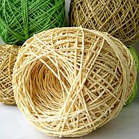 Рафия соломка для вязания шляп и сумок цвет соломы