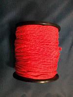 """Верёвка """"Крокус""""  2мм оранжевая с светоотражающей нитью"""