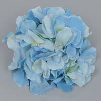Головка гортензии 16 см голубая