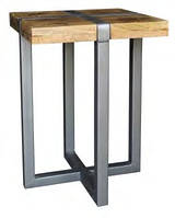 Кофейный столик IRON & W/N SIDE TABLE CGI1512. В стиле Лофт.