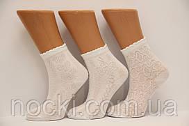 Ажурные детские белые носочки п/э ТР