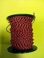 """Верёвка """"Крокус""""  2мм (кивлар)красно-чёрная"""