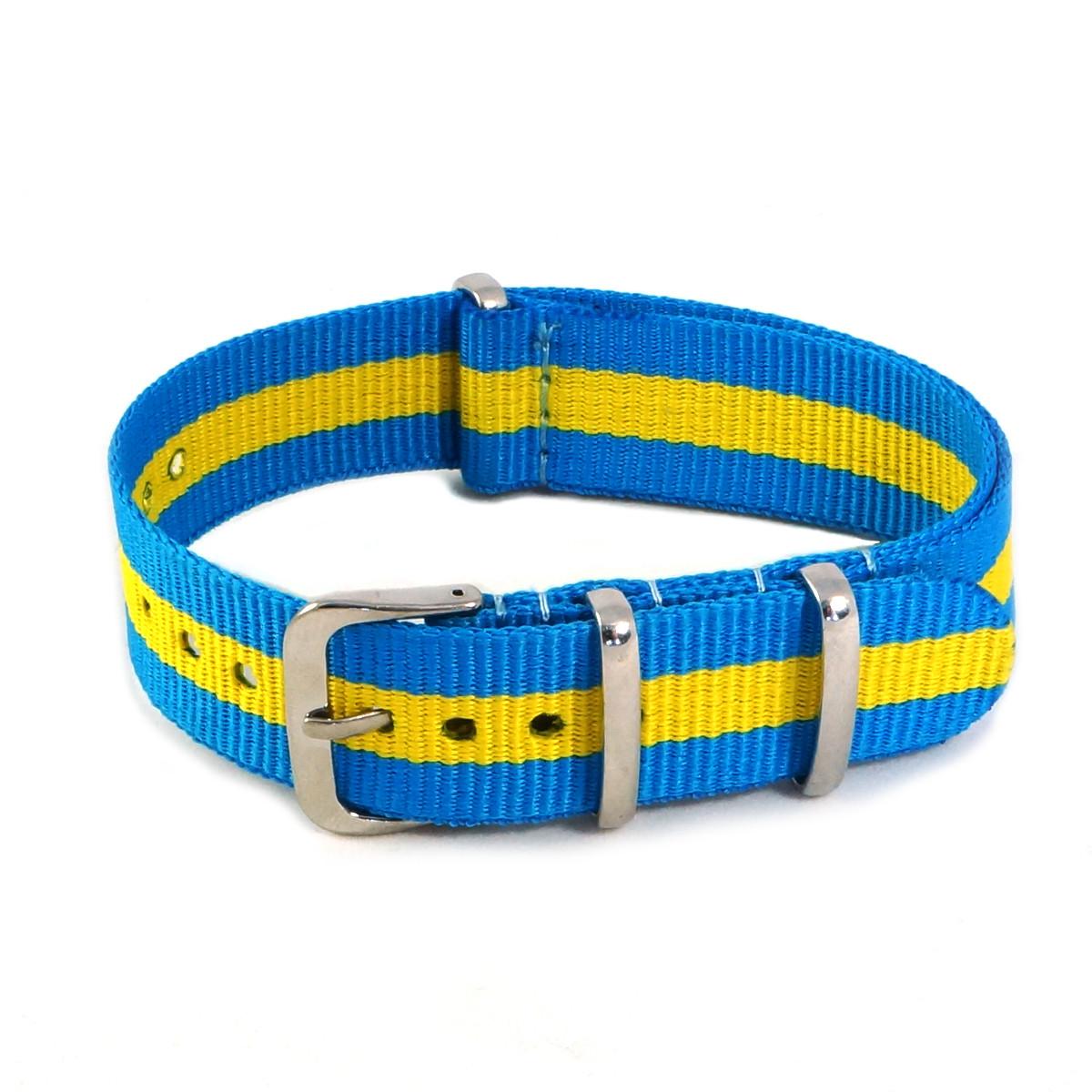 Ремешок для часов, желто-голубой