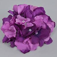 Головка гортензии 16 см фиолетовая