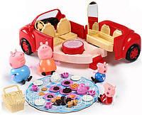 Машинка свинка Пеппа и ее семья - пикник, машина Пепы