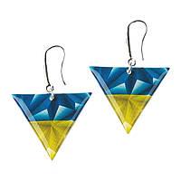 Серьги Флаг треугольники