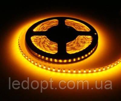 Светодиодная лента SMD3528 9,6W 120 LED/m IP65 желтый Yellow