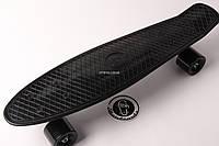 Penny board Черная доска на черных колесах