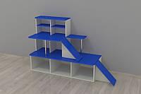 Автосалон детская стенка  1600*500*1000h игровая мебель