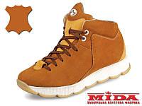Комфортные кожаные ботинки  MIDA 24578(379)