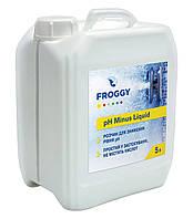 Химия для бассейнов Froggy рН- Minus Liquid (жидкость) 25 кг (20 л) - Препарат для понижения уровня рН