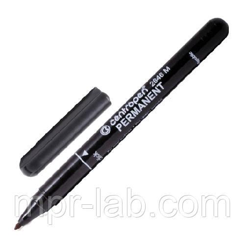 Centropen маркер перманентный черный