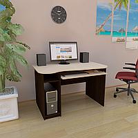 Стол компьютерный фигурный с полкой под клавиатуру и системный блок СК-3