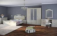 Спальня Прага два вида шкаф 6Д и 4Д, прикроватные тумбы, комод, зеркало, туалетный столик, кровать 2С