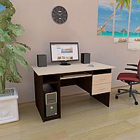 Стол компьютерный с полкой под клавиатуру, системный блок и ящиками СК-4