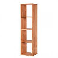 Полка напольная книжная из натурального дерева 702