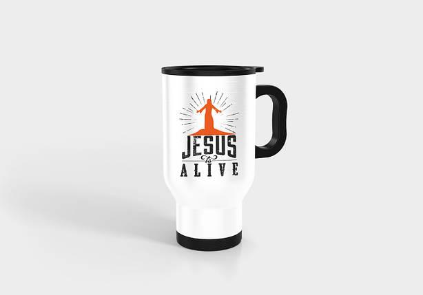 """Термокружка №14 """" Jesus is alive"""", фото 2"""